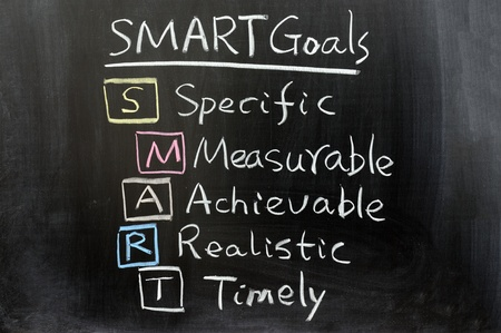 Conceptional chalk drawing - SMART Goals photo