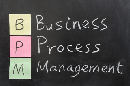lifecycle: Chalk drawing - BPM, Business Process Management