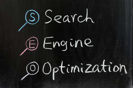 browser business: Chalk drawing - Search engine optimization Stock Photo
