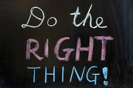Chalk drawing - Do the right thing Stock Photo - 12701700