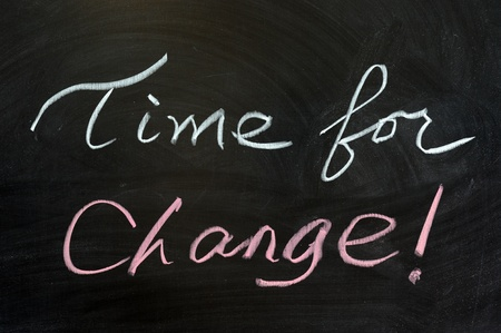 Chalk drawing - Time for change! photo