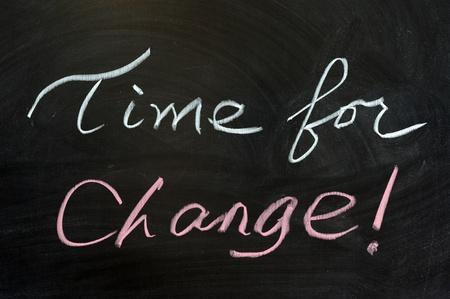 dessin craie: Dessin � la craie - Le temps du changement!