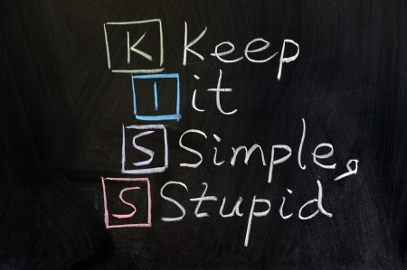 keep: Chalk drawing - KISS, keep it simple, stupid