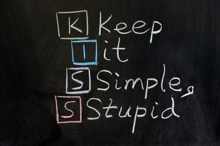 dessin craie: Dessin � la craie - KISS, keep it simple, stupid