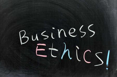 valores morales: Dibujo de tiza conceptual - La ética empresarial