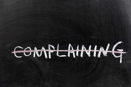 Chalk drawing - Complaining word with a line photo