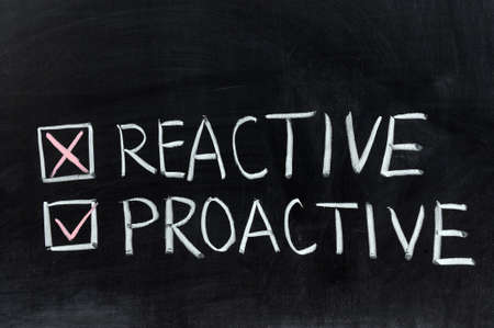 reactive: Chalk drawing - Reactive or proactive