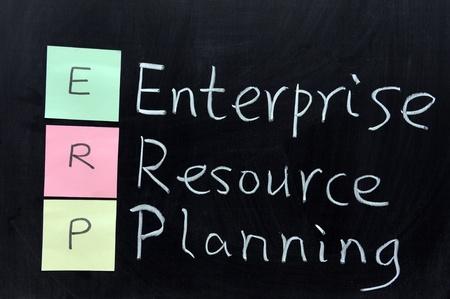 Chalk drawing - ERP, Enterprise Resource Planning photo
