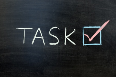 Chalk writing - Task accomplished concept photo