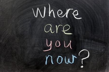 te negro: Escribir con tiza - �D�nde est�s ahora?