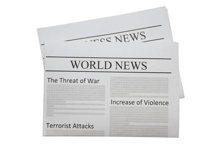 白で隔離される世界のニュース新聞