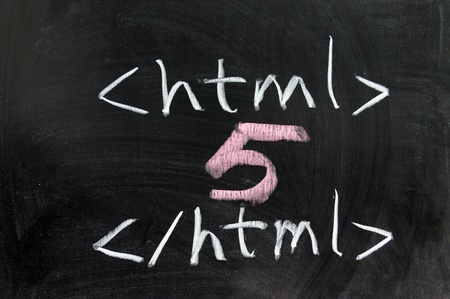 html 5: Chalk drawing - HTML5 concept
