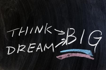 黒板に書かれたと思うと夢の大きな言葉 写真素材
