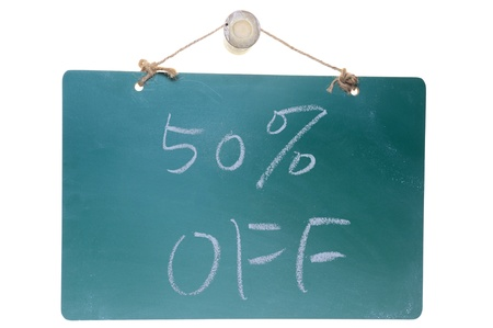 Chalk drawing - Fifty percent off Stock Photo - 14478136