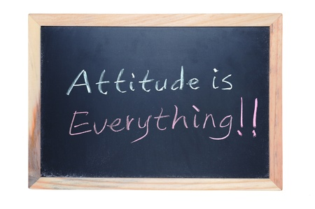Chalk drawing - Attitude is everything Stock Photo - 14635772