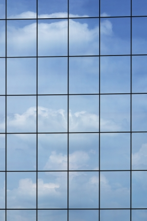 Windows background of modern building exterior