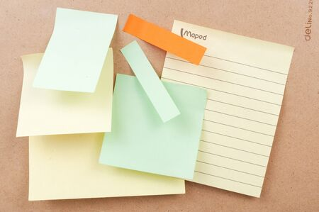 Sticky notes paste on the board Stock Photo - 16025934