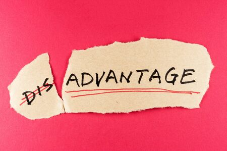 amend: amending disadvantage word and changing it  to advantage