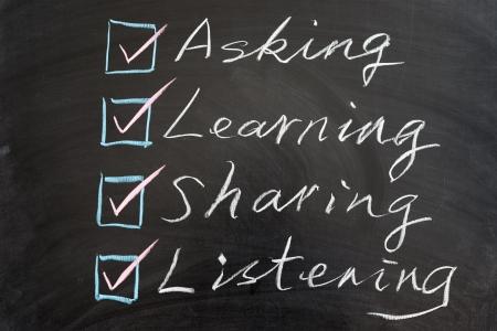 黒板に書かれた方法の概念単語の学習