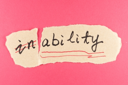 inability: Alter inability word and changing it  to ability