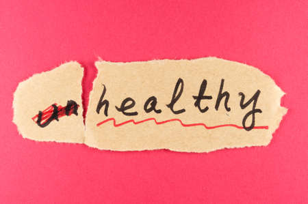 amend: Alter Unhealthy word and change to healthy