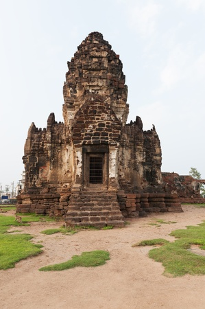 Wat Phra Prang Sam Yot temple in Lopburi, Thailand photo