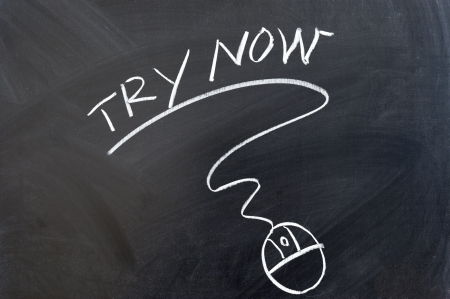 demo: Try now words and mouse drawn on chalkboard