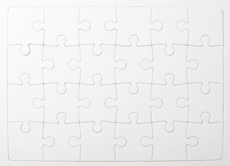 ホワイト ペーパーのジグソー パズルのグループ 写真素材