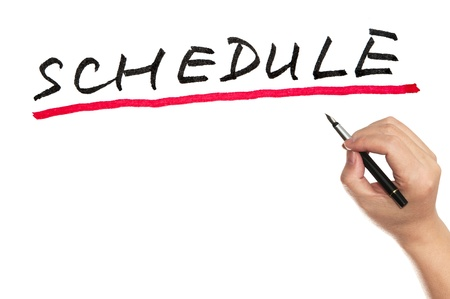 schedule appointment: Hand writing Schedule word on white board