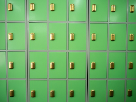 Group of lockers background close up view photo