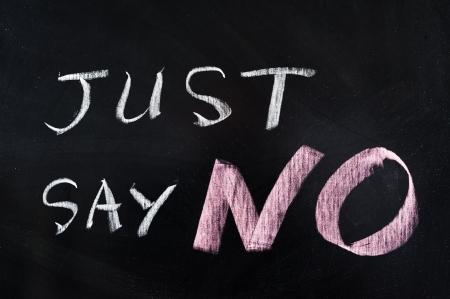 Zeg gewoon geen woorden geschreven op bord