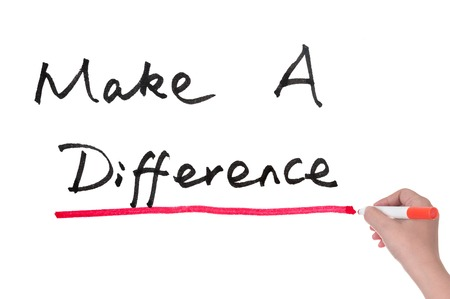 Make a difference words written on paper Stock Photo - 27413757