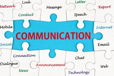 Palabras del concepto de comunicación en grupo de rompecabezas