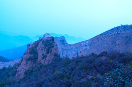 hebei province: Great Wall of China built in the Ming Dynasty in Jinshanling, Hebei province, China