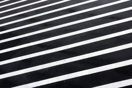 road mark: Marks of parallel lines on the road