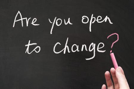 Are you open to change words written on the blackboard using chalk Standard-Bild