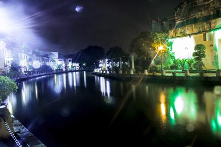 melacca: malaysia melacca river night view