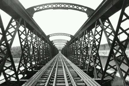 abandon: An old abandon railway Stock Photo