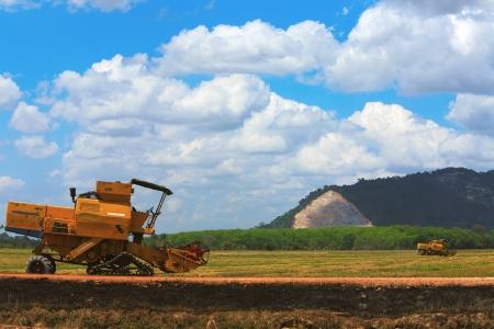R�colte Moissonneuse dans le domaine de culture du grain