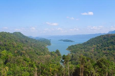 lac, dans une montagne