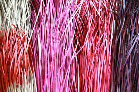 screwpine: Plaiting in natural fiberinfografick - screwpine leaves Stock Photo