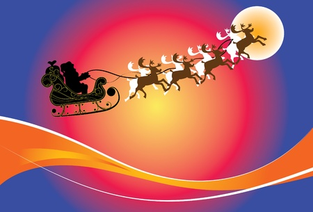 Santa s Sleigh, All elements are grouped and layered separately