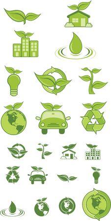 Les ic�nes vertes et le symbole.