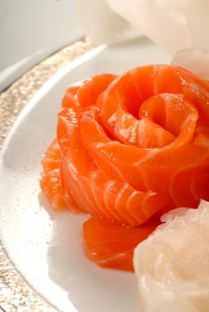 poissons de saumon pour les sushis