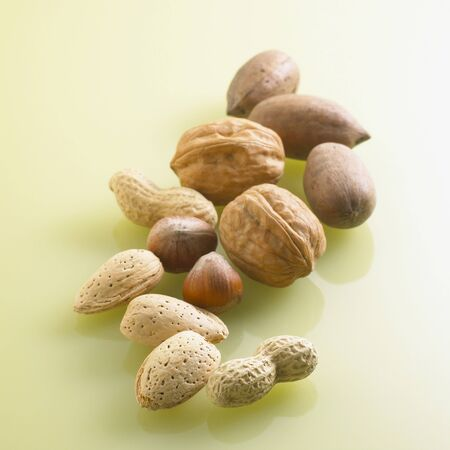 Assorted Nuts in Shell Stock Photo