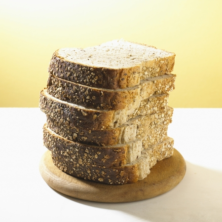 Sliced Whole Grain Bread Stock Photo