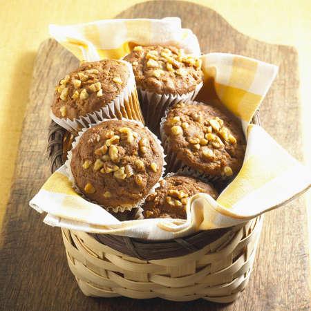 Panier de Muffins Banque d'images