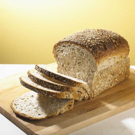Loaf of Whole Grain Bread Stock Photo