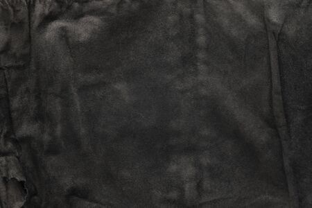 black structural background - old shabby stylish suede, reverse side, old fabric, textile
