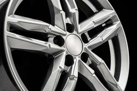 beautiful new alloy wheel close-up, auto tuning
